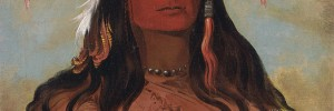 Hee-ohks-te-kin, Rabbits Skin Leggings, a Brave Nez Perc, by George Catlin, 1832. Copyright: Smithsonian American Art Museum