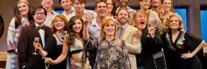The cast of Merrily We Roll Along at the Harold Pinter Theatre. Photo © Tristram Kenton