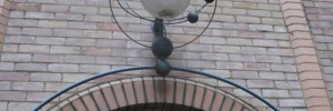 The only nod to the alley's scientific past - a lamp in the form of an orrery.