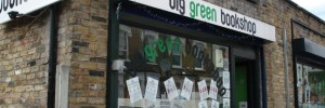 Down a side street, you will find the Big Green Bookshop