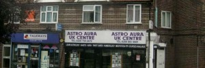 The Astro Aura Centre in Hounslow. We're not entirely sure what they sell, but we bet it doesn't work.