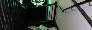 Stairs leading to the downstairs club space